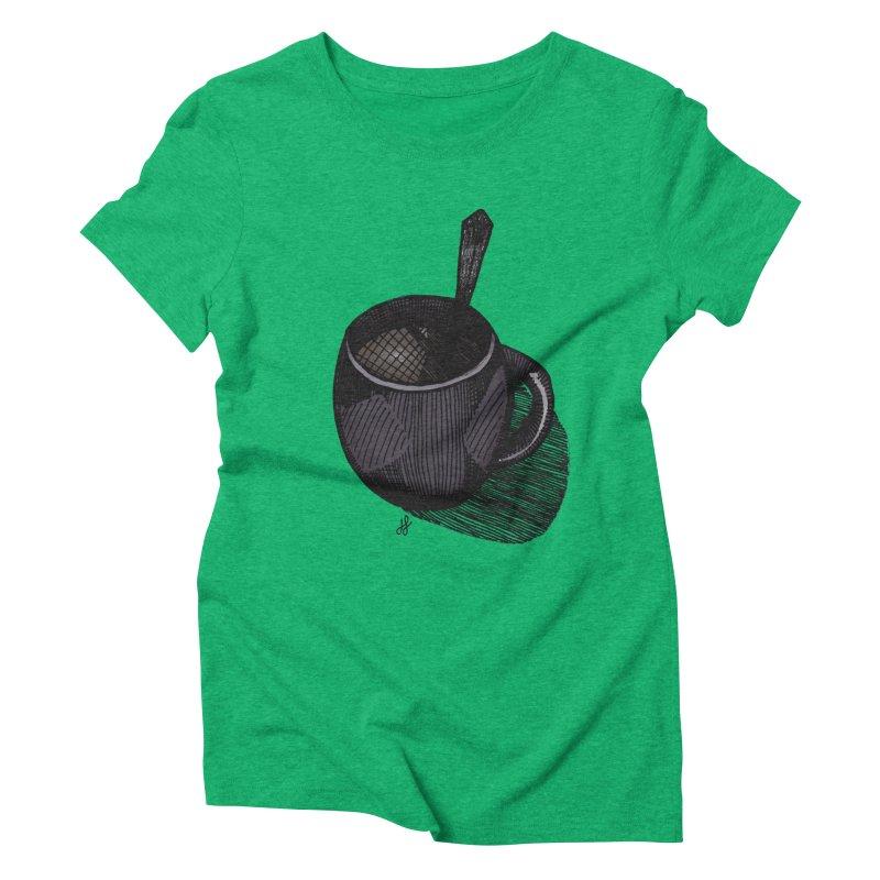 coffee mug (dark version) Women's Triblend T-Shirt by J. Lavallee's Artist Shop