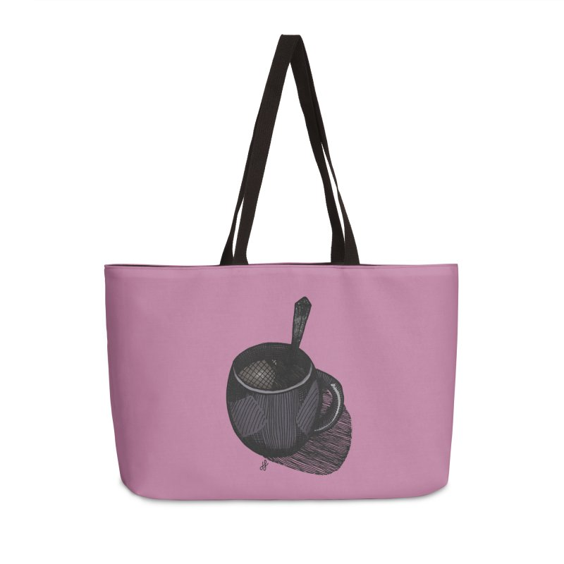 coffee mug (dark version) Accessories Weekender Bag Bag by J. Lavallee's Artist Shop