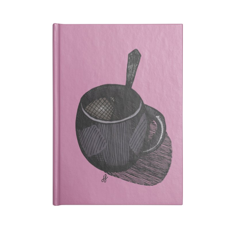 coffee mug (dark version) Accessories Lined Journal Notebook by J. Lavallee's Artist Shop