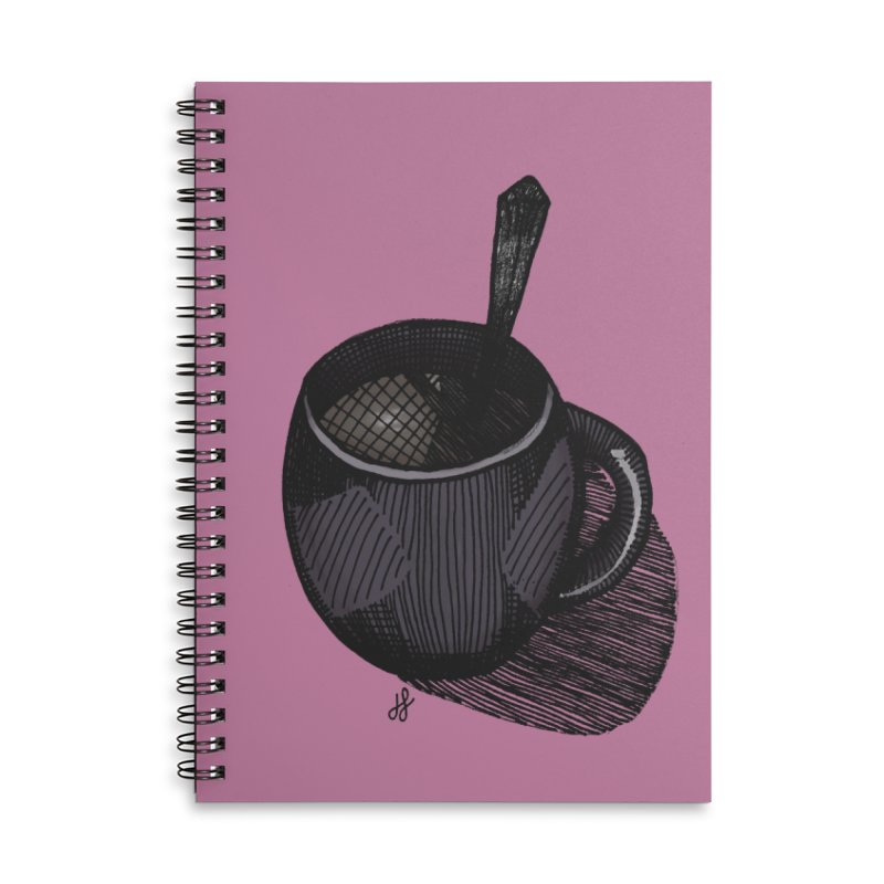coffee mug (dark version) Accessories Lined Spiral Notebook by J. Lavallee's Artist Shop