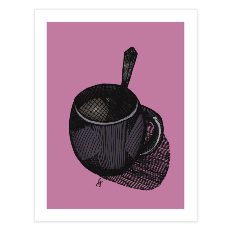 coffee mug (dark version) Home Fine Art Print by J. Lavallee's Artist Shop
