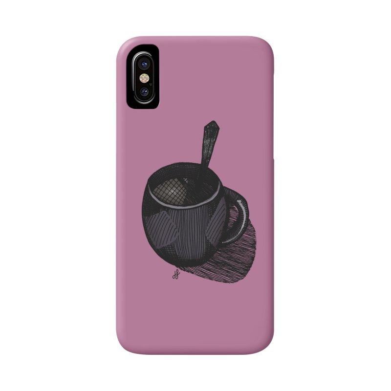coffee mug (dark version) Accessories Phone Case by J. Lavallee's Artist Shop