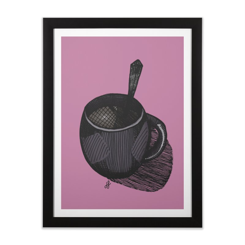 coffee mug (dark version) Home Framed Fine Art Print by J. Lavallee's Artist Shop