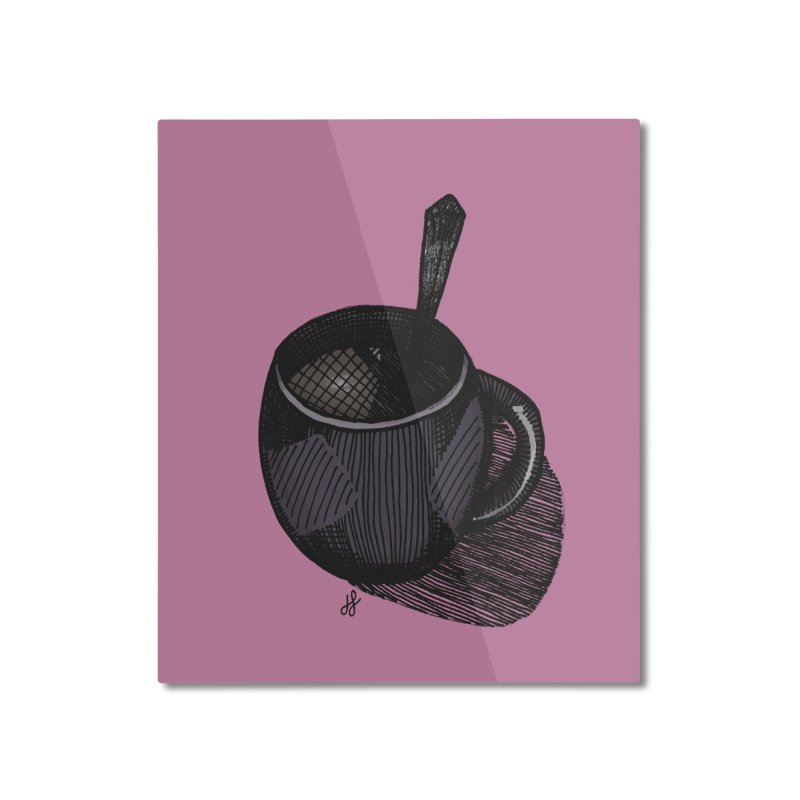 coffee mug (dark version) Home Mounted Aluminum Print by J. Lavallee's Artist Shop