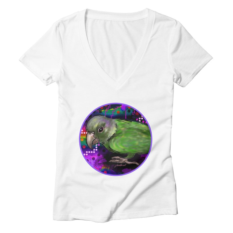 space fawkes Women's Deep V-Neck V-Neck by J. Lavallee's Artist Shop