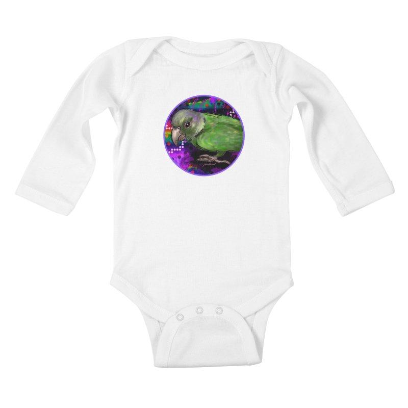 space fawkes Kids Baby Longsleeve Bodysuit by J. Lavallee's Artist Shop