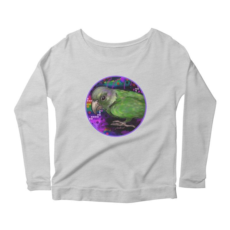 space fawkes Women's Scoop Neck Longsleeve T-Shirt by J. Lavallee's Artist Shop