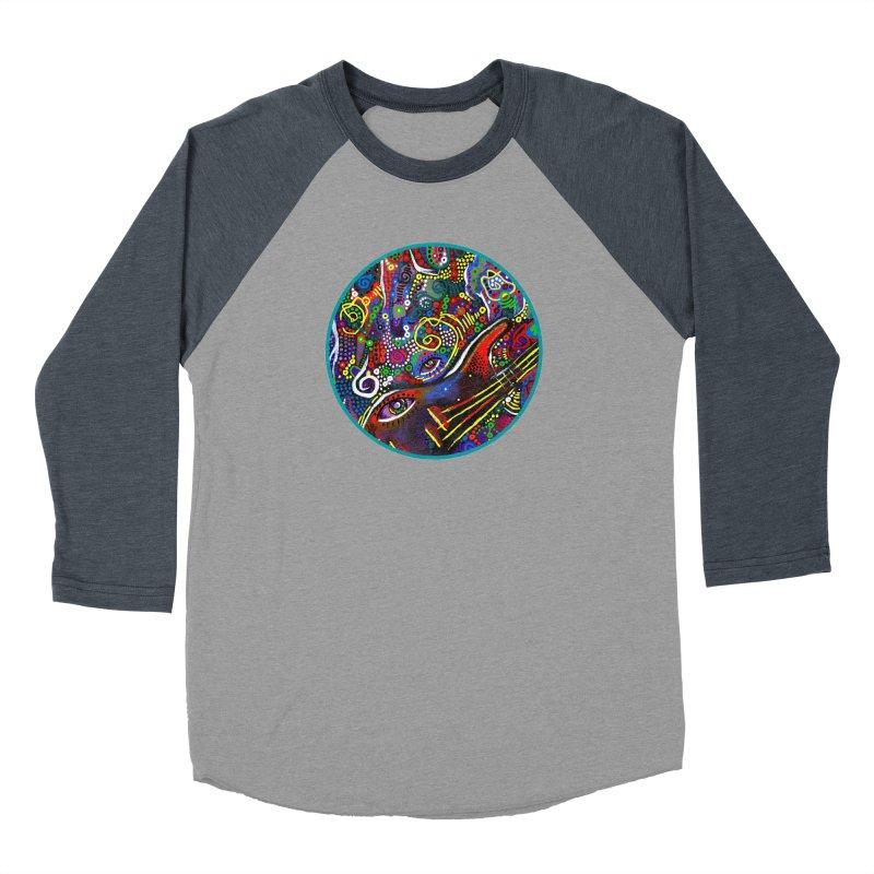'vibrations' Women's Baseball Triblend Longsleeve T-Shirt by J. Lavallee's Artist Shop