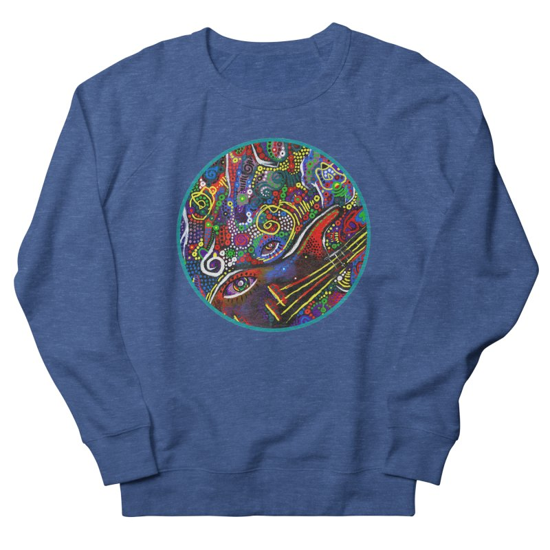 'vibrations' Men's French Terry Sweatshirt by J. Lavallee's Artist Shop
