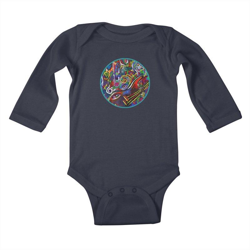 'vibrations' Kids Baby Longsleeve Bodysuit by J. Lavallee's Artist Shop