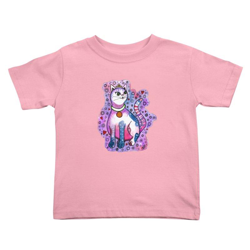 """Cutie Kitty""  Kids Toddler T-Shirt by J. Lavallee's Artist Shop"