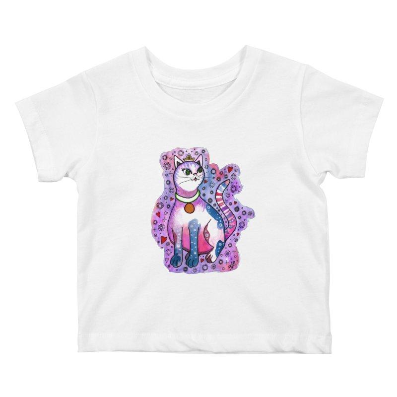 """Cutie Kitty""  Kids Baby T-Shirt by J. Lavallee's Artist Shop"