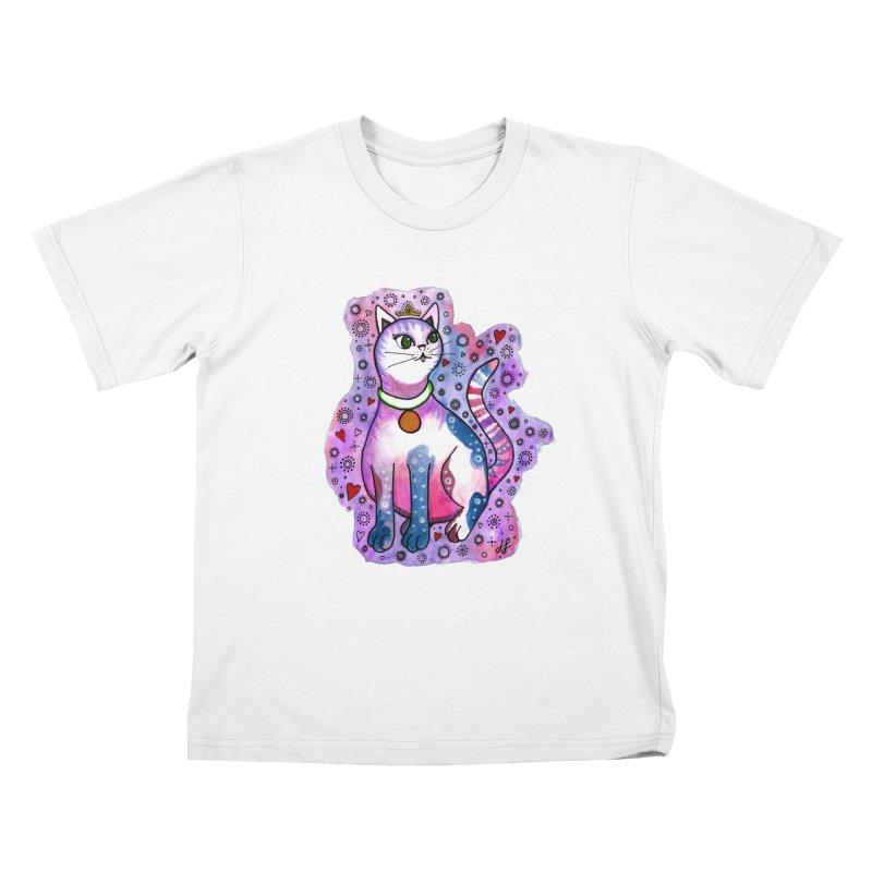 """Cutie Kitty""  Kids T-Shirt by J. Lavallee's Artist Shop"