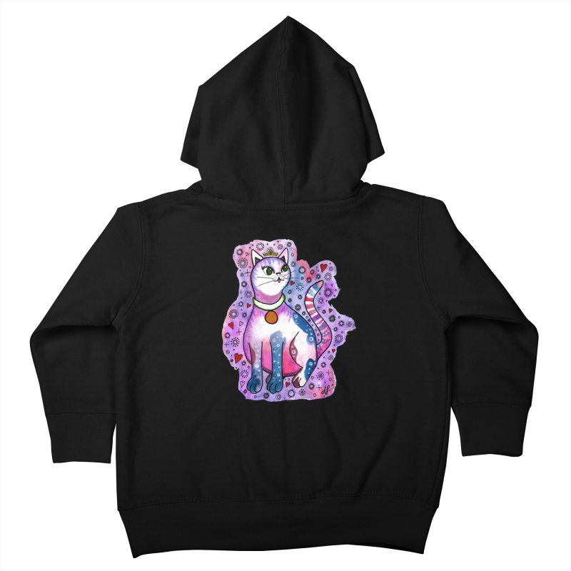 """Cutie Kitty""  Kids Toddler Zip-Up Hoody by J. Lavallee's Artist Shop"