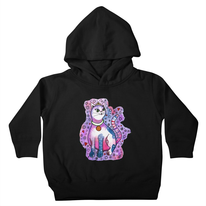 """""""Cutie Kitty""""  Kids Toddler Pullover Hoody by J. Lavallee's Artist Shop"""
