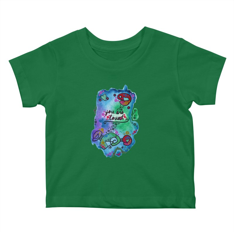 """""""you are loved"""" Kids Baby T-Shirt by J. Lavallee's Artist Shop"""