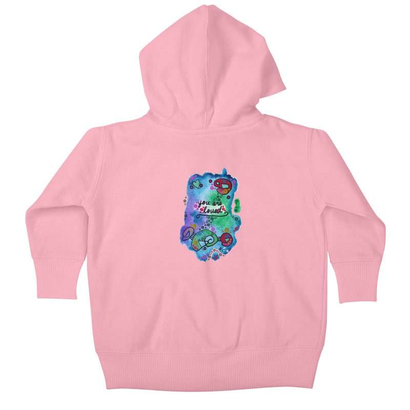 """you are loved"" Kids Baby Zip-Up Hoody by J. Lavallee's Artist Shop"