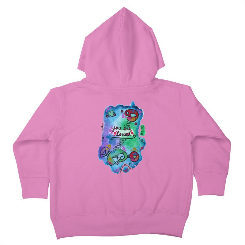"""you are loved"" Kids Toddler Zip-Up Hoody by J. Lavallee's Artist Shop"