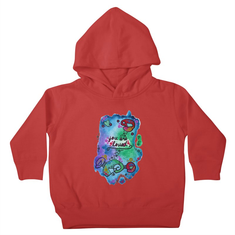 """""""you are loved"""" Kids Toddler Pullover Hoody by J. Lavallee's Artist Shop"""