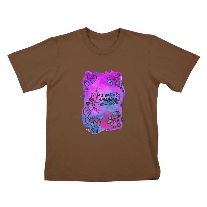 """""""you are amazing"""" Kids T-Shirt by J. Lavallee's Artist Shop"""