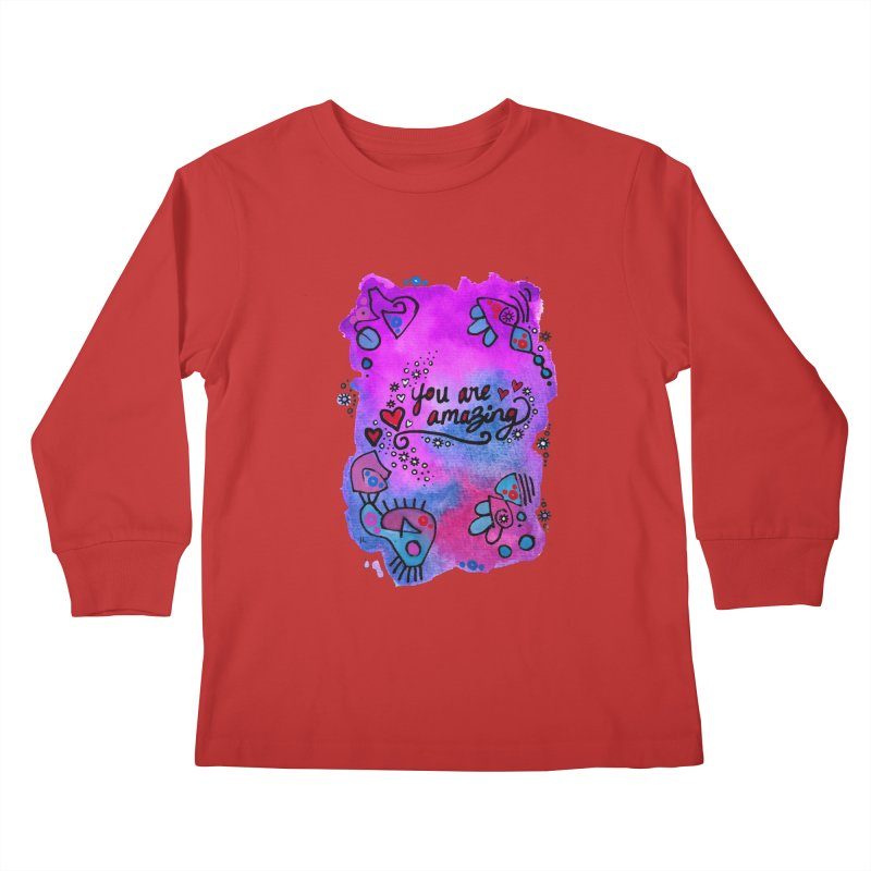 """you are amazing"" Kids Longsleeve T-Shirt by J. Lavallee's Artist Shop"