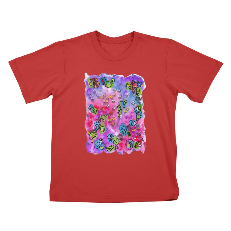 """""""sunset from under the ocean"""" Kids T-Shirt by J. Lavallee's Artist Shop"""
