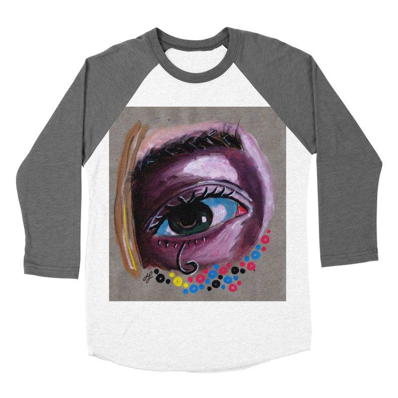 """eye study #2"" Women's Baseball Triblend Longsleeve T-Shirt by J. Lavallee's Artist Shop"
