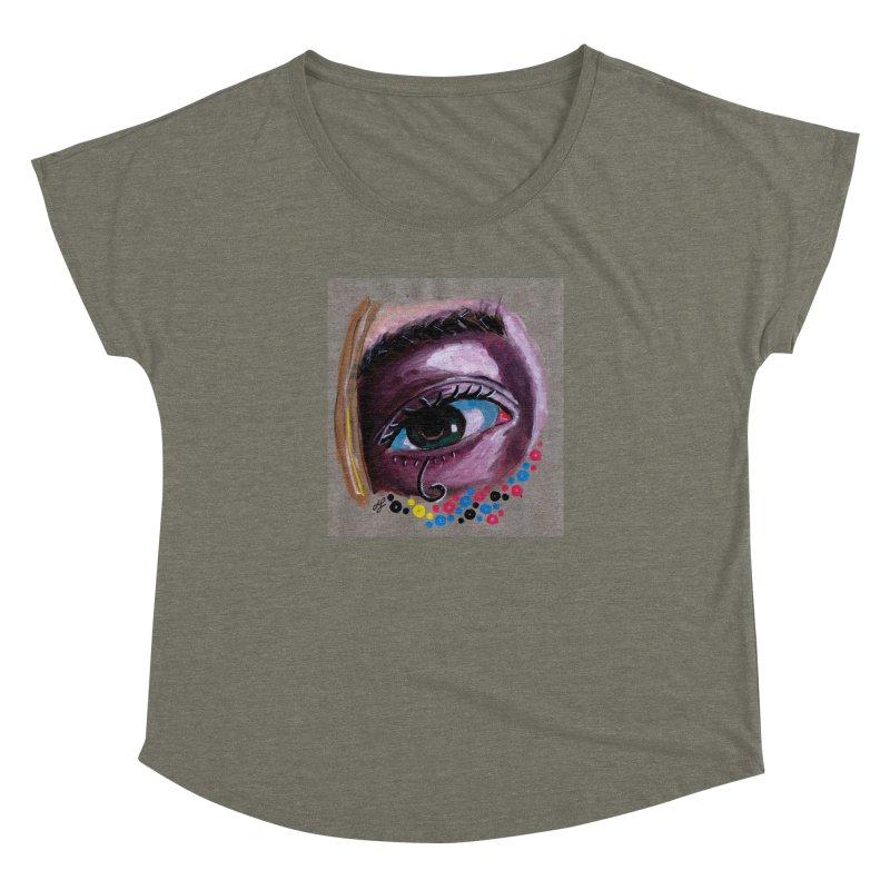 """""""eye study #2"""" Women's Dolman Scoop Neck by J. Lavallee's Artist Shop"""