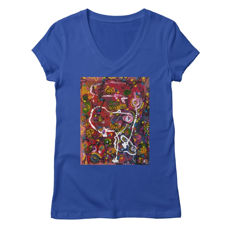 """eruption and rebirth"" Women's Regular V-Neck by J. Lavallee's Artist Shop"