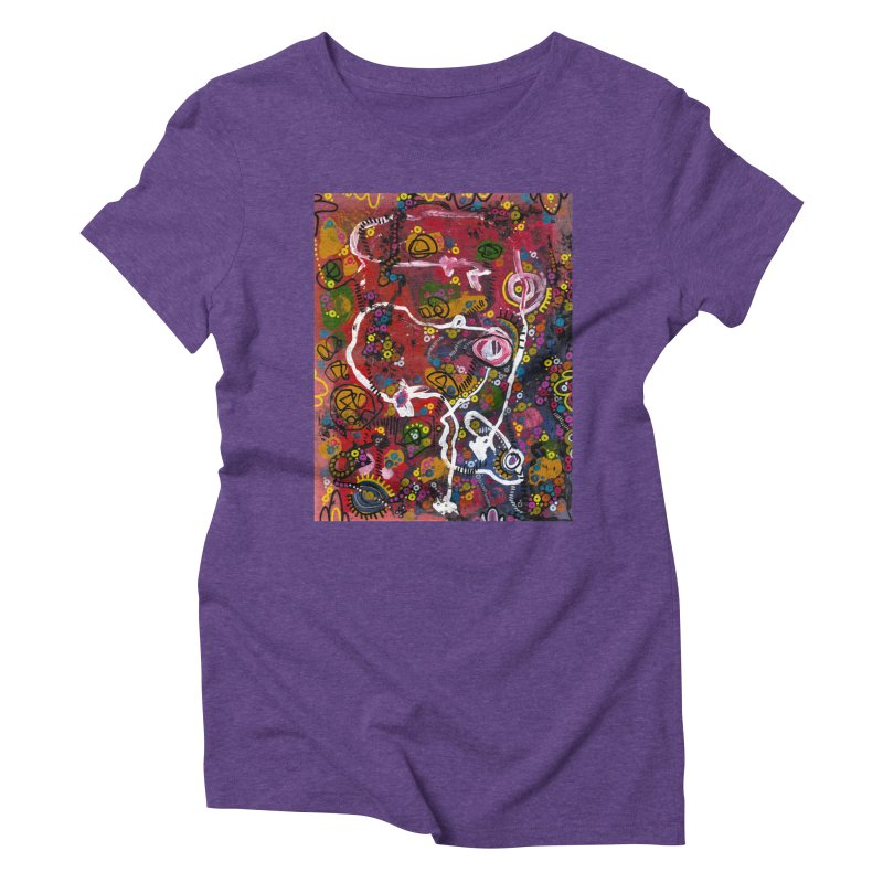 """""""eruption and rebirth"""" Women's Triblend T-Shirt by J. Lavallee's Artist Shop"""