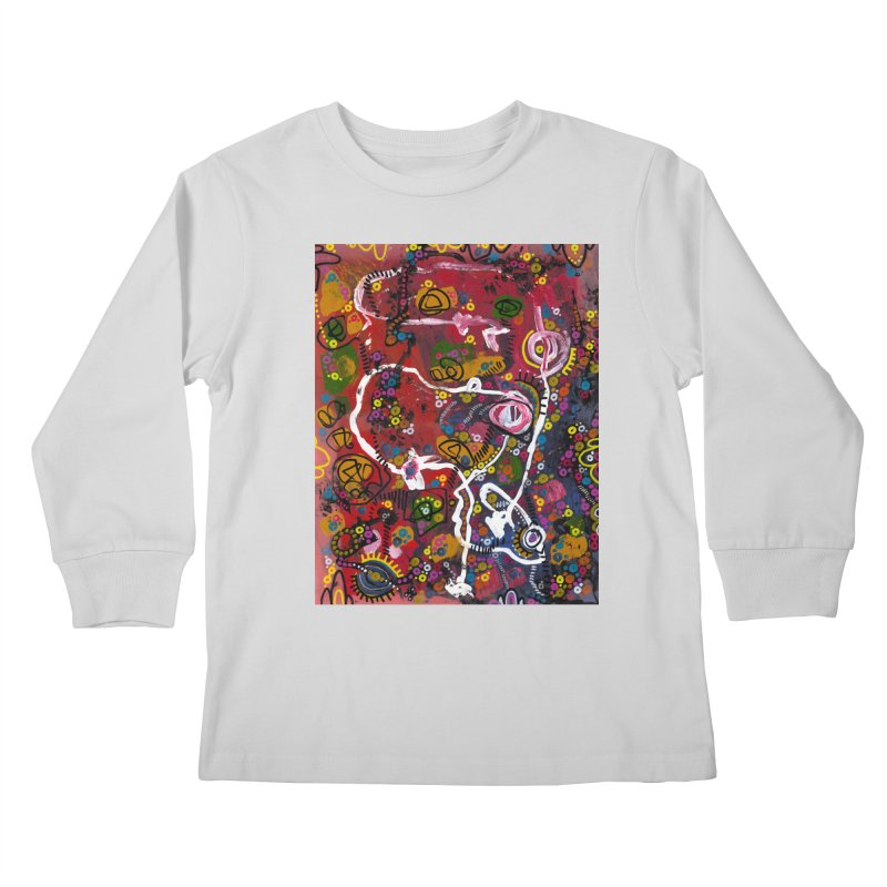 """eruption and rebirth"" Kids Longsleeve T-Shirt by J. Lavallee's Artist Shop"