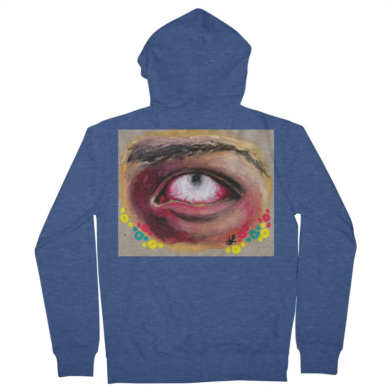 """""""demon of fatigue"""" Men's French Terry Zip-Up Hoody by J. Lavallee's Artist Shop"""
