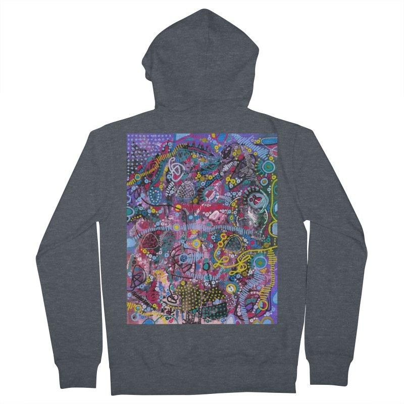 """""""racing thoughts"""" Women's French Terry Zip-Up Hoody by J. Lavallee's Artist Shop"""