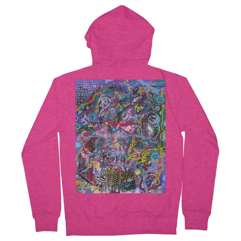 """racing thoughts"" Women's French Terry Zip-Up Hoody by J. Lavallee's Artist Shop"
