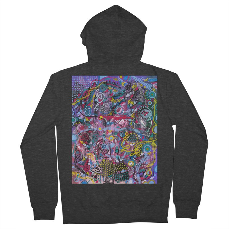 """racing thoughts"" Men's French Terry Zip-Up Hoody by J. Lavallee's Artist Shop"