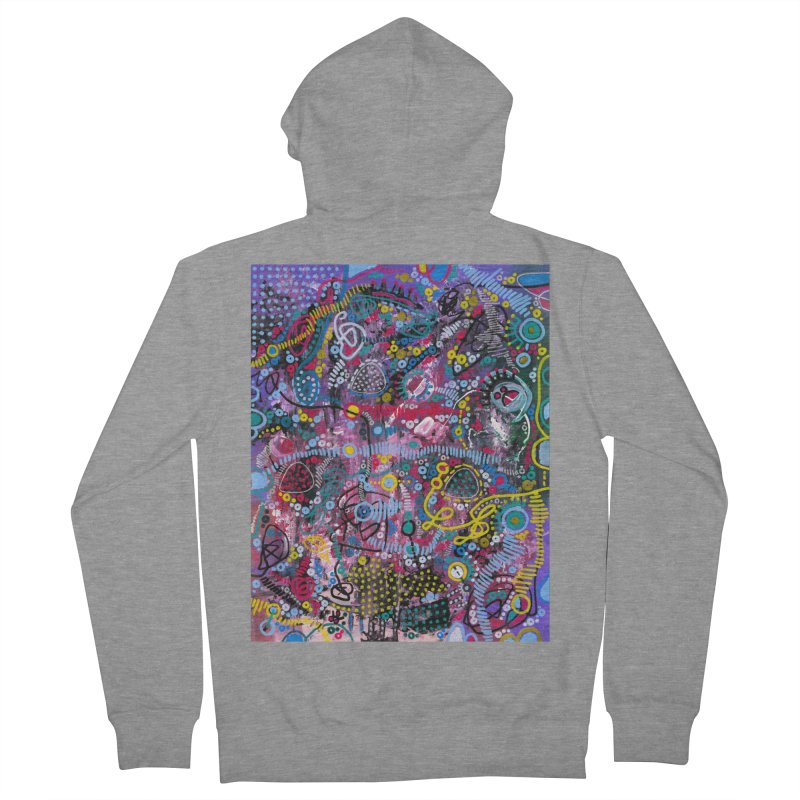 """""""racing thoughts"""" Men's French Terry Zip-Up Hoody by J. Lavallee's Artist Shop"""