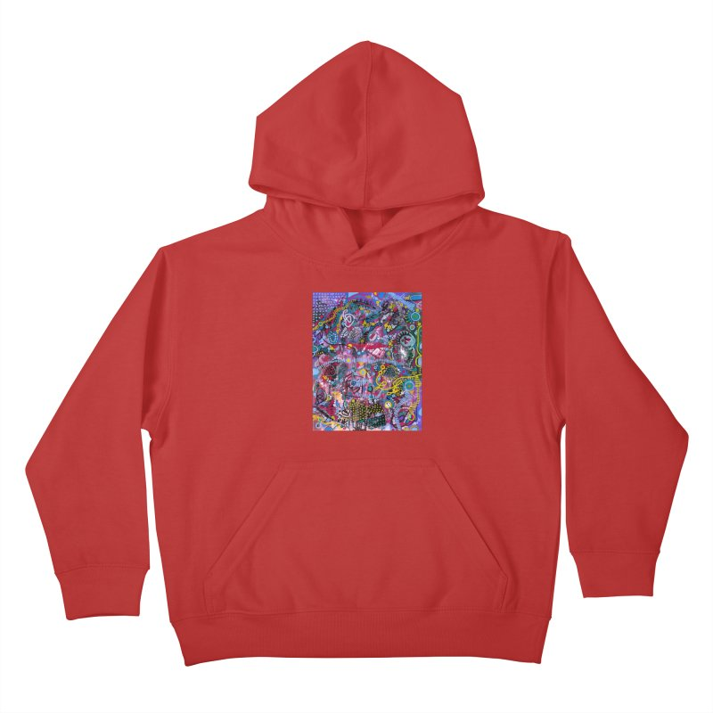 """""""racing thoughts"""" Kids Pullover Hoody by J. Lavallee's Artist Shop"""