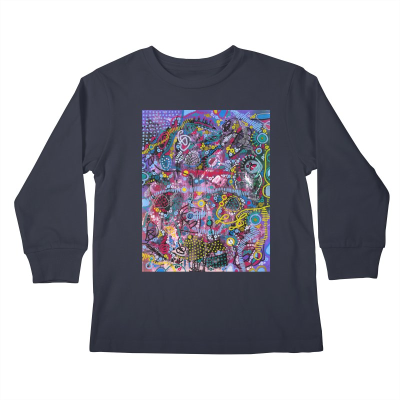 """racing thoughts"" Kids Longsleeve T-Shirt by J. Lavallee's Artist Shop"