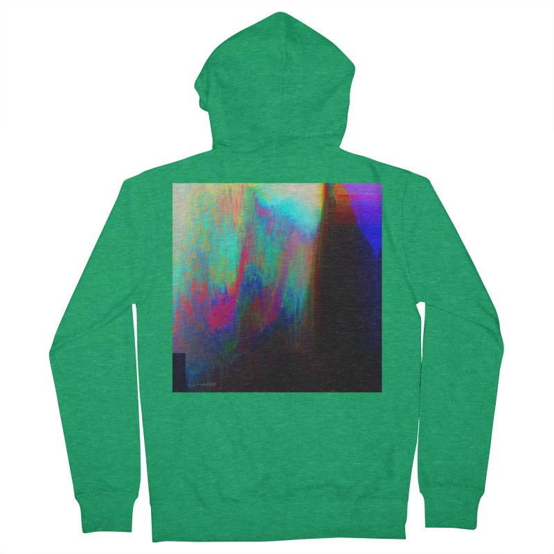 the melting Men's French Terry Zip-Up Hoody by J. Lavallee's Artist Shop