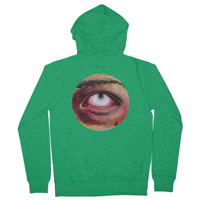 """""""demon of fatigue"""" Women's French Terry Zip-Up Hoody by J. Lavallee's Artist Shop"""