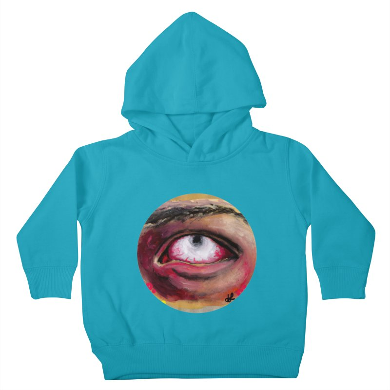 """""""demon of fatigue"""" Kids Toddler Pullover Hoody by J. Lavallee's Artist Shop"""