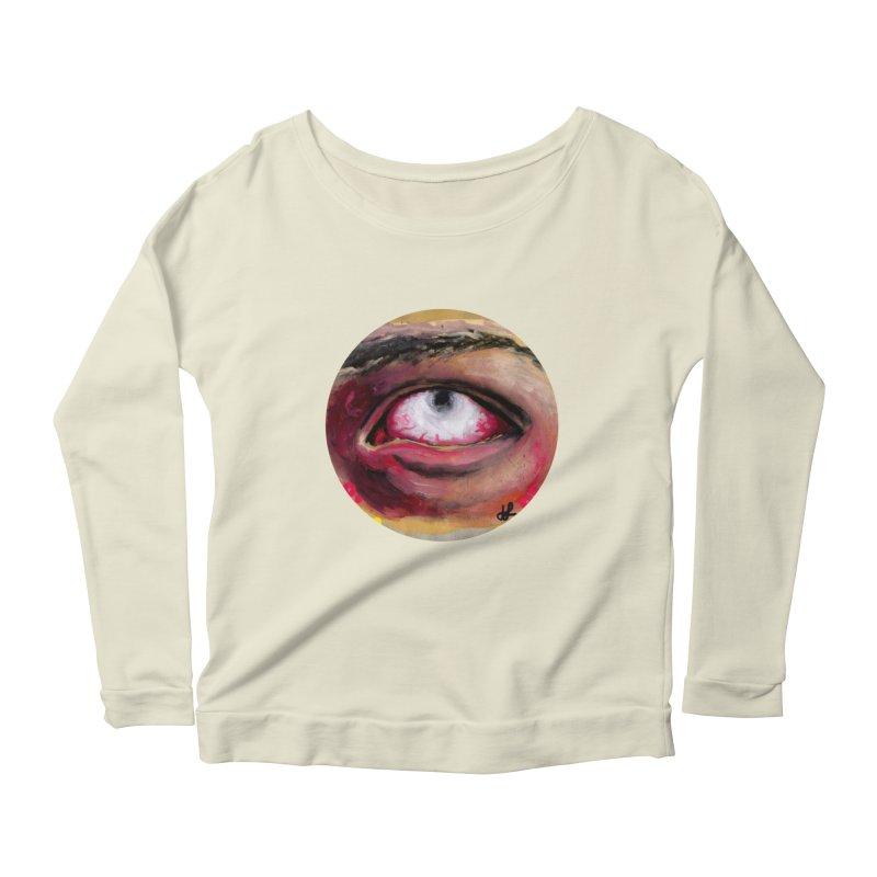 """demon of fatigue"" Women's Scoop Neck Longsleeve T-Shirt by J. Lavallee's Artist Shop"
