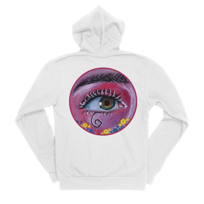 """""""eye of the possum"""" redesign Men's Sponge Fleece Zip-Up Hoody by J. Lavallee's Artist Shop"""