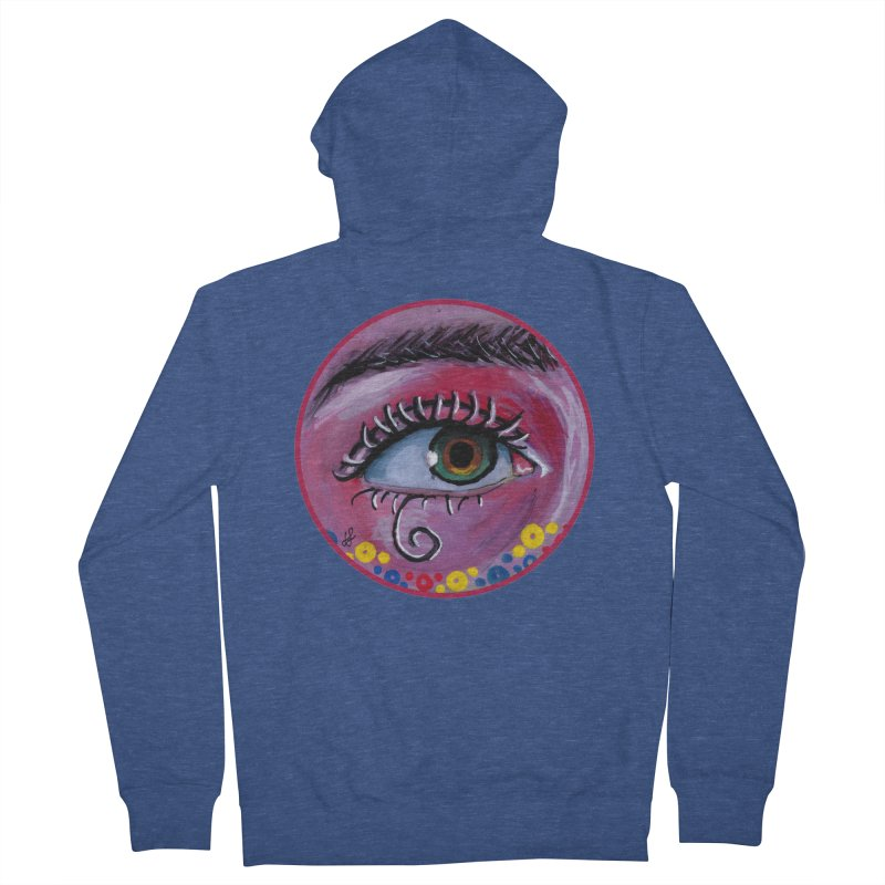 """eye of the possum"" redesign Women's French Terry Zip-Up Hoody by J. Lavallee's Artist Shop"