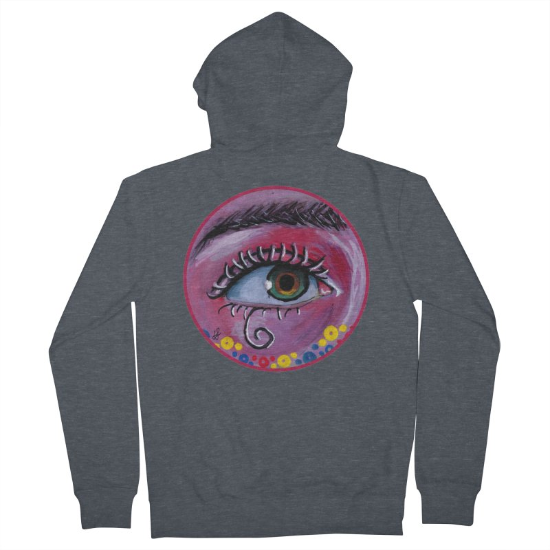 """""""eye of the possum"""" redesign Women's French Terry Zip-Up Hoody by J. Lavallee's Artist Shop"""
