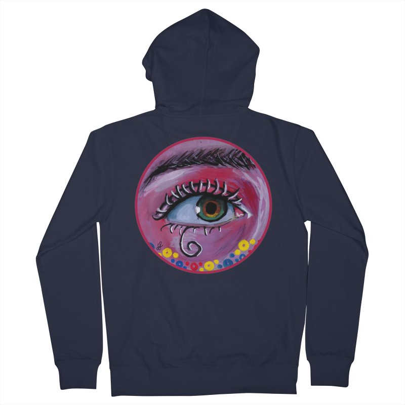 """eye of the possum"" redesign Men's French Terry Zip-Up Hoody by J. Lavallee's Artist Shop"