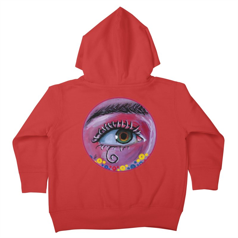 """eye of the possum"" redesign Kids Toddler Zip-Up Hoody by J. Lavallee's Artist Shop"