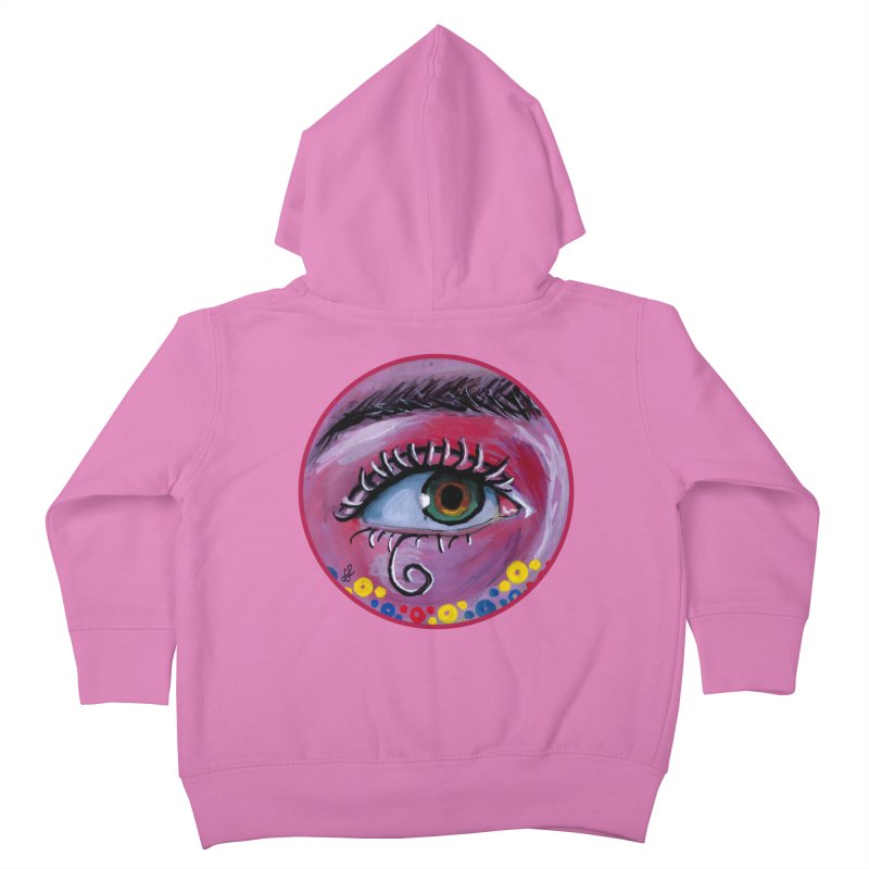 """eye of the possum"" redesign Kids Toddler Zip-Up Hoody by J. Lavallee's Artist Shop"