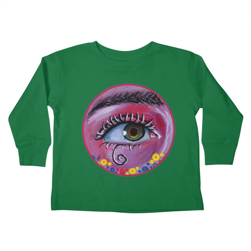 """eye of the possum"" redesign Kids Toddler Longsleeve T-Shirt by J. Lavallee's Artist Shop"