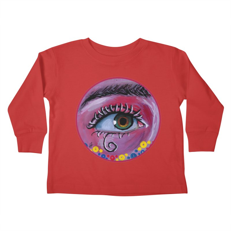 """eye of the possum"" redesign Kids Toddler Longsleeve T-Shirt by J. Lavallee's Artist Shop"